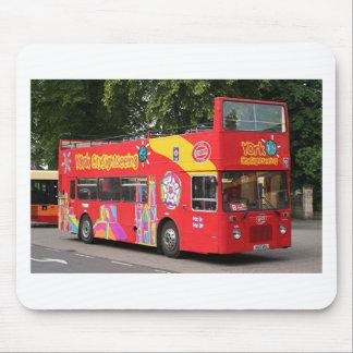 Tour bus, York, England, United Kingdom Mousepad