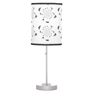 Tour de France Bikes in a Cycling Whirl Table Lamp
