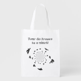 Tour de France Bikes in a Cycling Whirl Grocery Bags