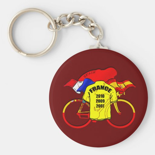 Tour de France champions Spain Yellow Jersey Keychain