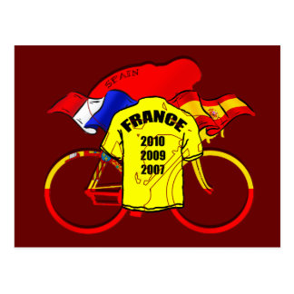 Tour de France champions Spain Yellow Jersey Post Cards