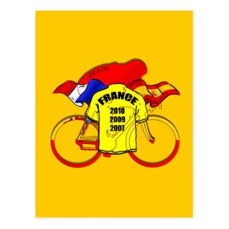 Tour de France champions Spain Yellow Jersey Post Card