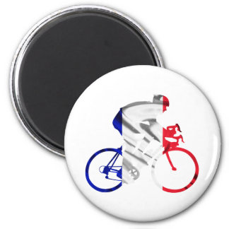 Tour de france cyclist 2 inch round magnet