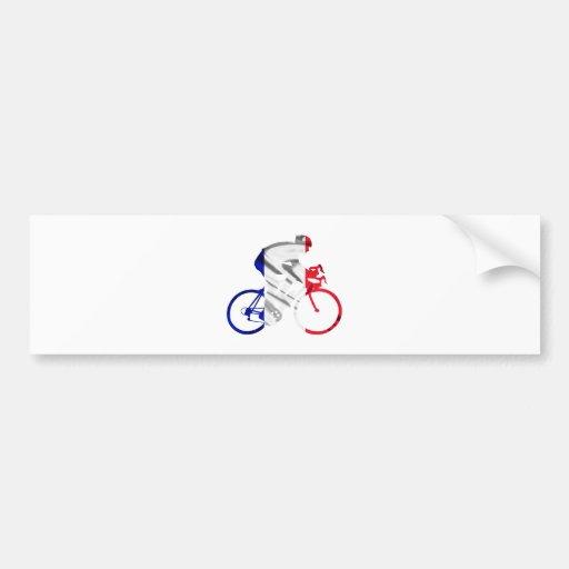 Tour de france cyclist car bumper sticker
