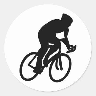 tour de france cyclist classic round sticker