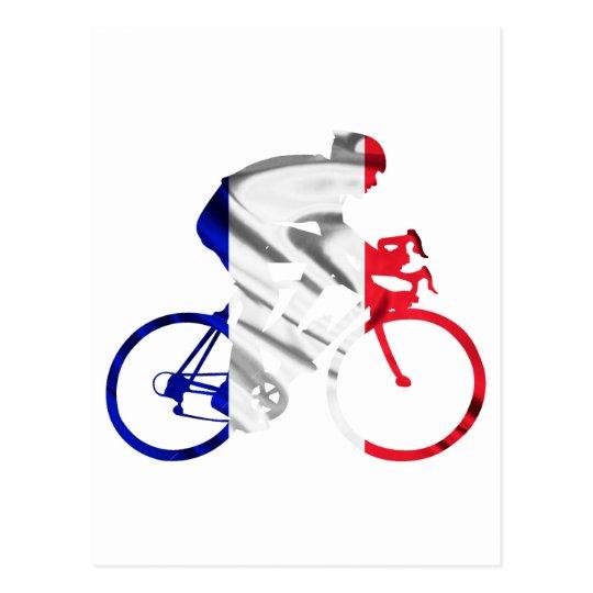 Tour de france cyclist postcard