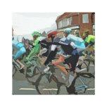 Tour De France in Yorkshire Stretched Canvas Prints