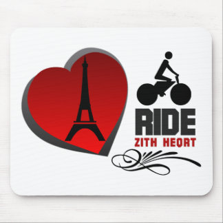 Tour De France Paris Heart Mouse Pad