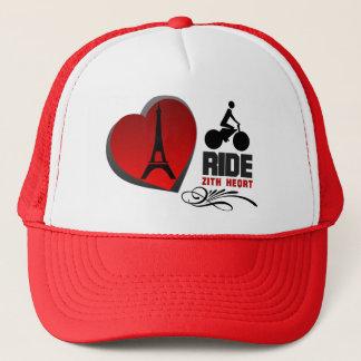 Tour De France Paris Heart Trucker Hat