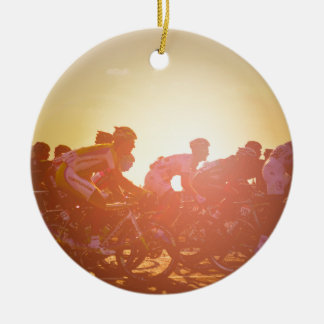 Tour De France Sunset Ceramic Ornament
