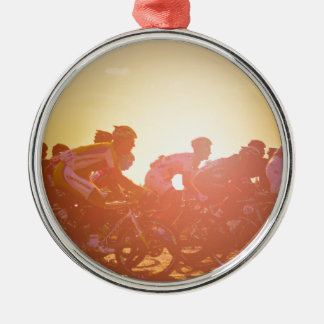 Tour De France Sunset Metal Ornament