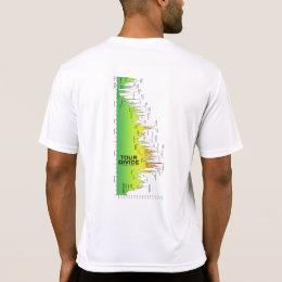 Tour Divide Elevation Profile t-shirt (Sideways)