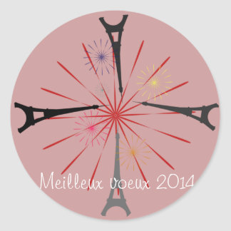 Tour eiffel classic round sticker