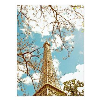 Tour Eiffel 5.5x7.5 Paper Invitation Card