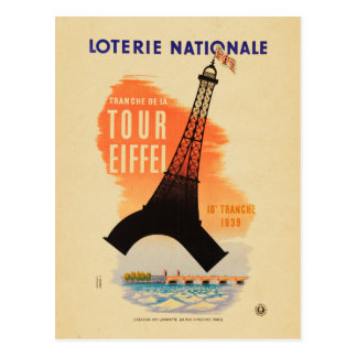 Tour Eiffel loterie nationale Postcard