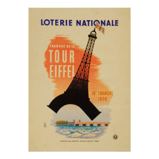 Tour Eiffel loterie nationale Poster