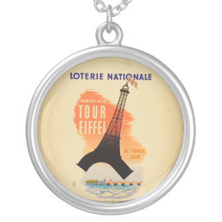 Tour Eiffel loterie nationale Silver Plated Necklace