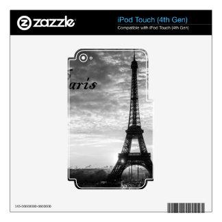 Tour Eiffel Paris - Sunset in Black & White (St.K) iPod Touch 4G Skin