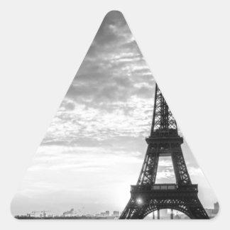 Tour Eiffel Paris - Sunset in Black & White (St.K) Triangle Sticker