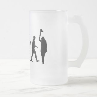 Tour guide Museum guide gear Frosted Glass Beer Mug