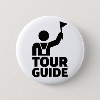 Tour guide pinback button