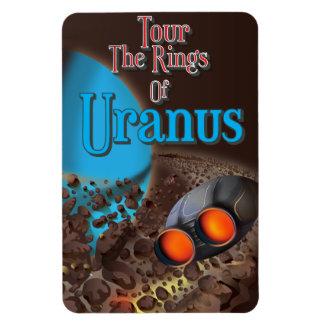 Tour the rings of Uranus travel poster Magnet