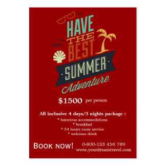Tour Travels Large Business Cards (Pack Of 100)