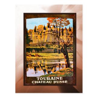 Touraine, castillo francés tarjetas postales