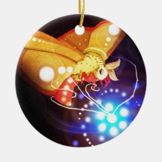 Tourbillion moth ceramic ornament