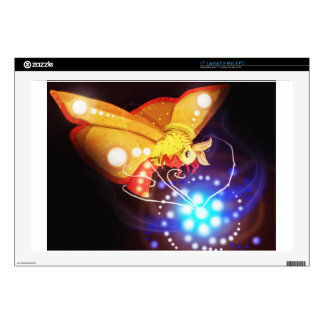 "Tourbillion moth decal for 17"" laptop"