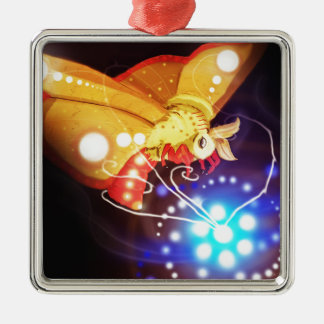 Tourbillion moth metal ornament