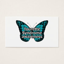 Tourette butterfly business card