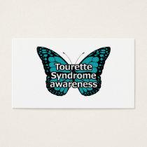 Tourette butterfly business card