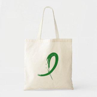 Tourette's Syndrome Green Ribbon A4 Tote Bag
