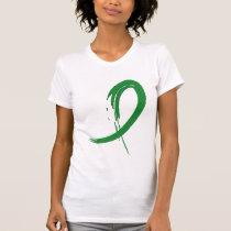 Tourette's Syndrome Green Ribbon A4 T-Shirt