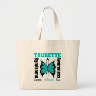 Tourette Syndrome Awareness Butterfly Canvas Bags