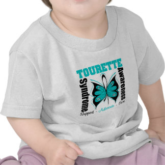 Tourette Syndrome Awareness Butterfly Tee Shirt