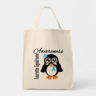 Tourette Syndrome Awareness Penguin Tote Bag