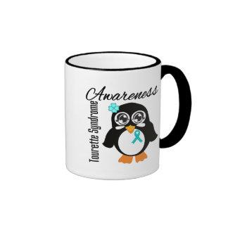 Tourette Syndrome Awareness Penguin Ringer Coffee Mug