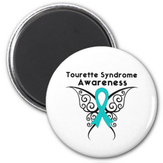 Tourette Syndrome Awareness Tattoo Butterfly 2 Inch Round Magnet
