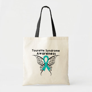 Tourette Syndrome Awareness Tattoo Butterfly Tote Bags