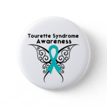 Tourette Syndrome Awareness Tattoo Butterfly Button