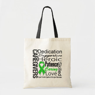 Tourette Syndrome Caregivers Collage Tote Bags
