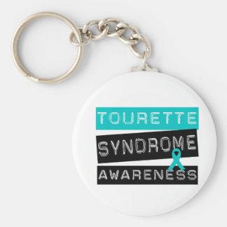 Tourette Syndrome Basic Round Button Keychain