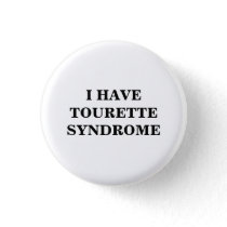Tourette Syndrome | TS | Button