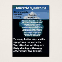 Tourettes is just the tip of the iceberg business card