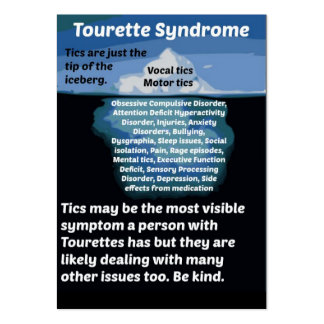Tourettes is just the tip of the iceberg large business card