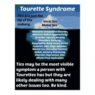 Tourettes is just the tip of the iceberg postcard