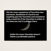 Tourettes moon business card
