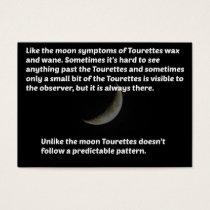 Tourettes moon business card